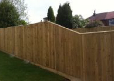 Feather Edge Boards on Timber Posts