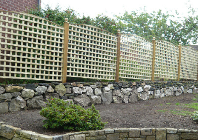 Arched Trellis on Timber Posts