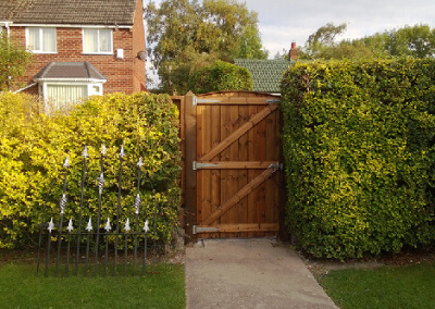 Reverse side Single gate - Completed
