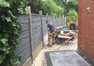 1. Contemporary Venetion Fencing - Before Picture